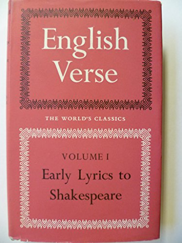 English Verse By Edited by W. Peacock