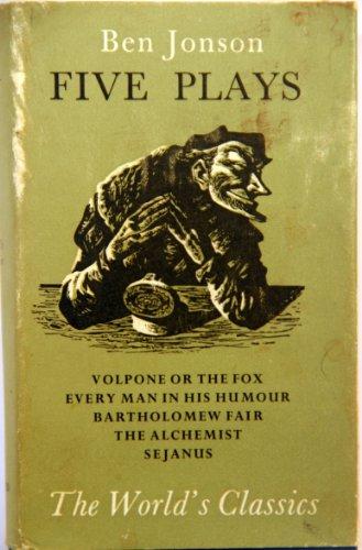 Five Plays By Ben Jonson