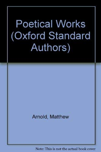 Poetical Works By Matthew Arnold