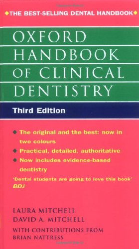 Oxford Handbook of Clinical Dentistry By Laura Mitchell