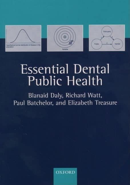 Essential Dental Public Health By Blanaid Daly