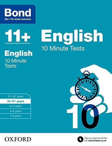 Bond 11+: English: 10 Minute Tests By Sarah Lindsay