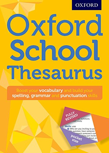 Oxford School Thesaurus By Oxford Dictionaries