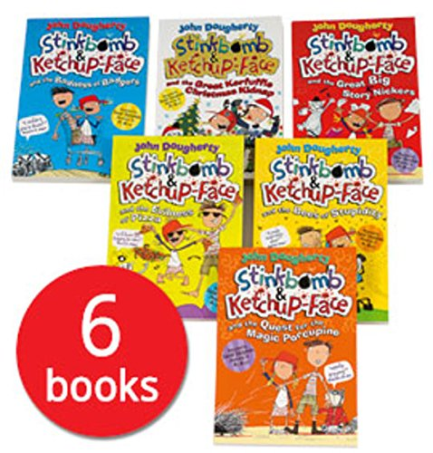 Stinkbomb and Ketchup-Face Collection - 6 Books By John Dougherty