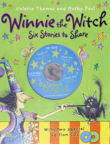 Winnie the Witch 6 Stories to Share & 2 audio CDs By Valerie Thomas