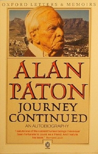 Journey Continued By Alan Paton