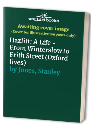 Hazlitt By Stanley Jones