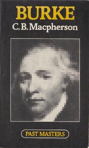 Burke By C. B. Macpherson