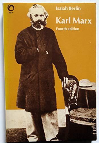Karl Marx By Isaiah Berlin