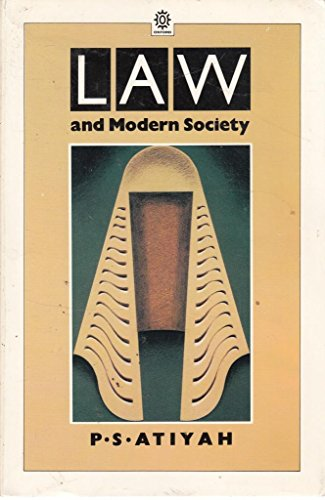Law and Modern Society By P. S. Atiyah