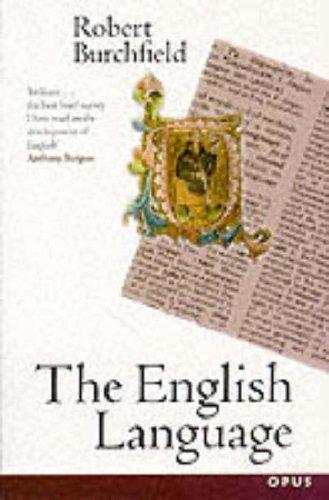 The English Language By R.W. Burchfield
