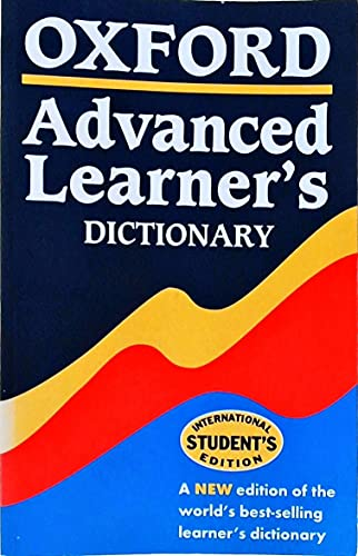 Oxford Advanced Learner's Dictionary By A. S. Hornby