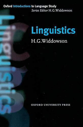 Linguistics By H. G. Widdowson