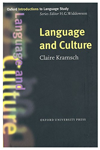 Language and Culture by Claire J. Kramsch