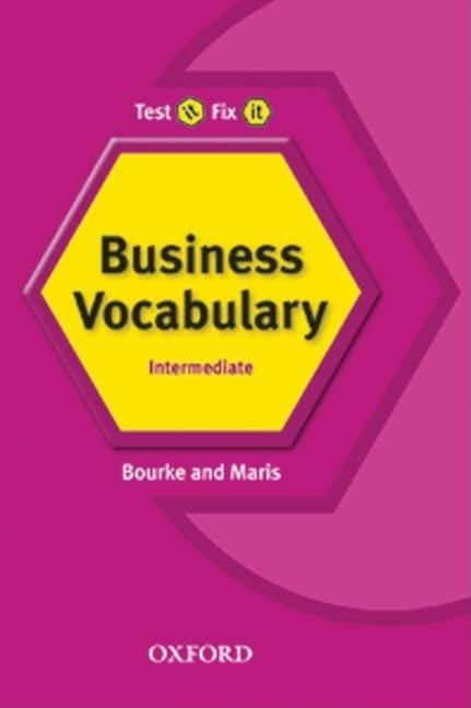 Test It Fix It Business Vocabulary By Kenna Bourke