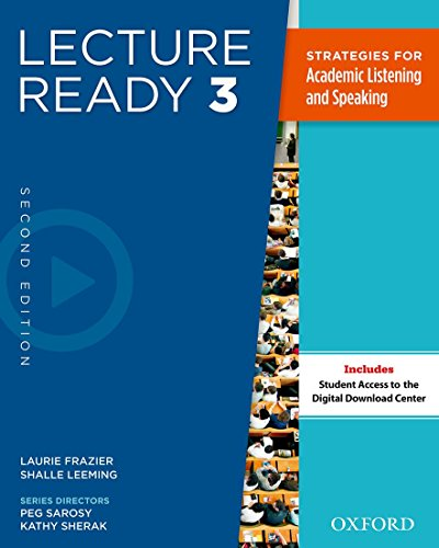 Lecture Ready Second Edition 3: Student Book By Sarosy Et Al.