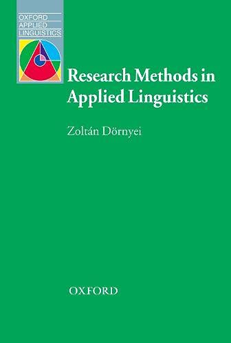 Research Methods in Applied Linguistics By Zoltan Dornyei