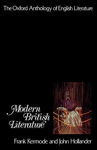 Modern British Literature By Frank Kermode