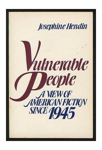 Vulnerable People By Josephine Gattuso Hendin