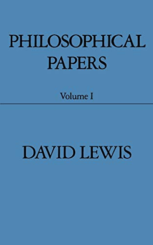 Philosophical Papers: Volume I By David Lewis