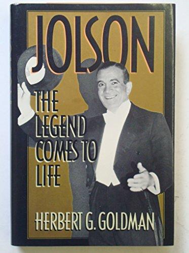 Jolson By Herbert G. Goldman