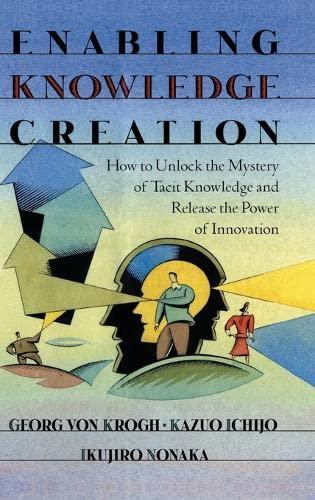 Enabling Knowledge Creation By Georg von Krogh (University of St. Gallen)