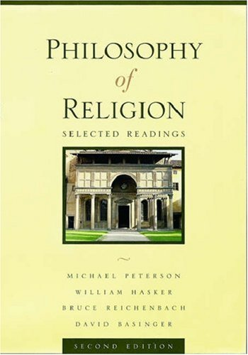 Philosophy of Religion By Michael L. Peterson