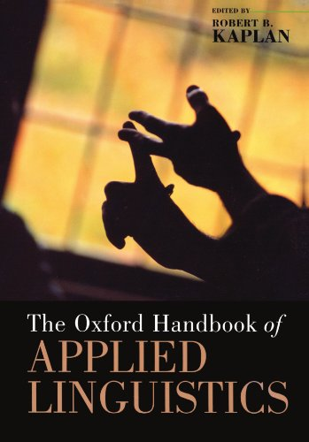 The Oxford Handbook of Applied Linguistics By Edited by Robert B. Kaplan