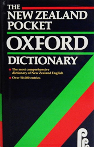 The New Zealand Pocket Oxford Dictionary By R.W. Burchfield
