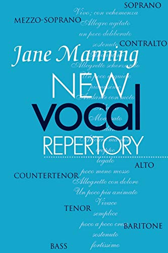 New Vocal Repertory: An Introduction (Vol 1) By Jane Manning