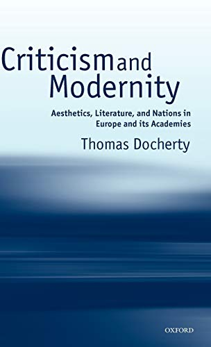 Criticism and Modernity By Thomas Docherty