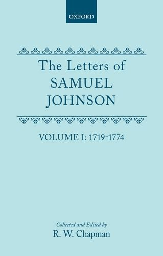 001 The Letters of Samuel Johnson With Mrs.Thra by Samuel Johnson Hardback