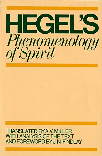 Phenomenology of Spirit by G. W. F. Hegel