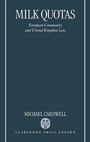 Milk Quotas By Michael N. Cardwell