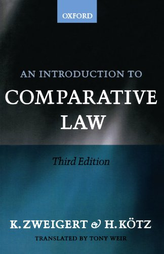 An Introduction To Comparative Law By Konrad Zweigert