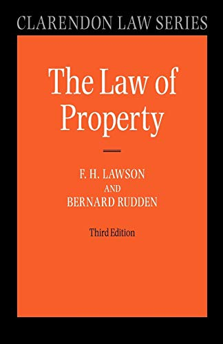 Law of Property By F.H. Lawson