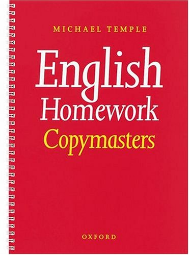 English Homework Copymasters By Michael Temple