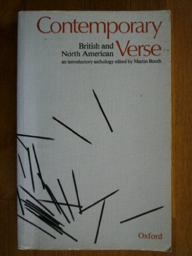 Contemporary British and North American Verse By Edited by Martin Booth