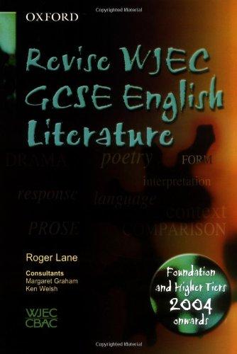 Revise WJEC GCSE English Literature: Revise WJEC English Literature By Roger Lane