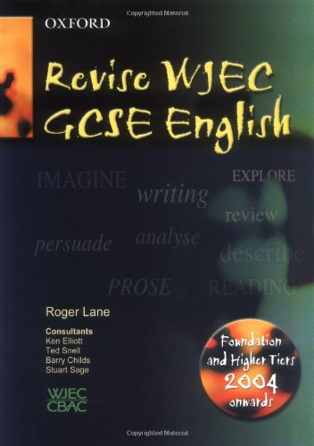 WJEC/CBAC GCSE English/English Literature By Roger Lane