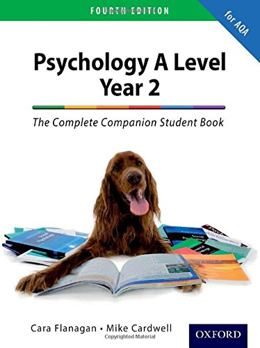The Complete Companion for AQA Psychology A Level: Year 2 Student Book By Mike Cardwell