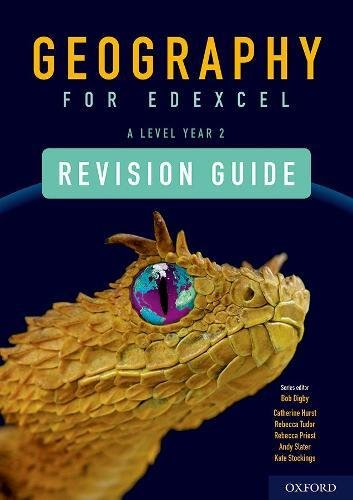 Geography for Edexcel A Level Year 2 Revision Guide By Series edited by Bob Digby