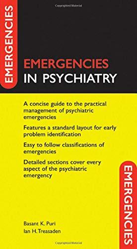 Emergencies in Psychiatry By Basant K. Puri