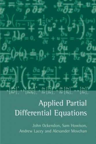 Applied Partial Differential Equations By J.R. Ockendon