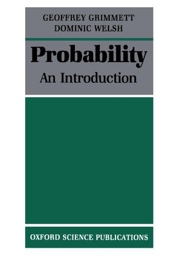 Probability By Geoffrey Grimmett