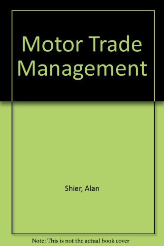 Motor Trade Management By Alan Shier