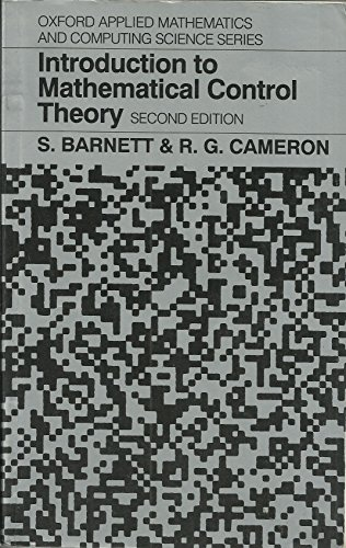 Introduction to Mathematical Control Theory By Stephen Barnett