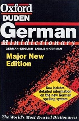 The Oxford-Duden German Minidictionary By Edited by Gunhild Prowe