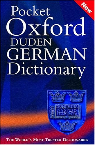 Pocket Oxford-Duden German Dictionary By Edited by M. Clark