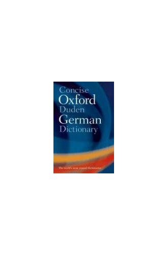 Concise Oxford-Duden German Dictionary By Oxford University Press